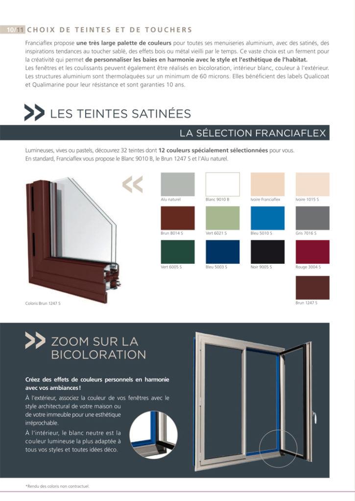 Fenêtre Alu colorie franciaflex iso confort limoux