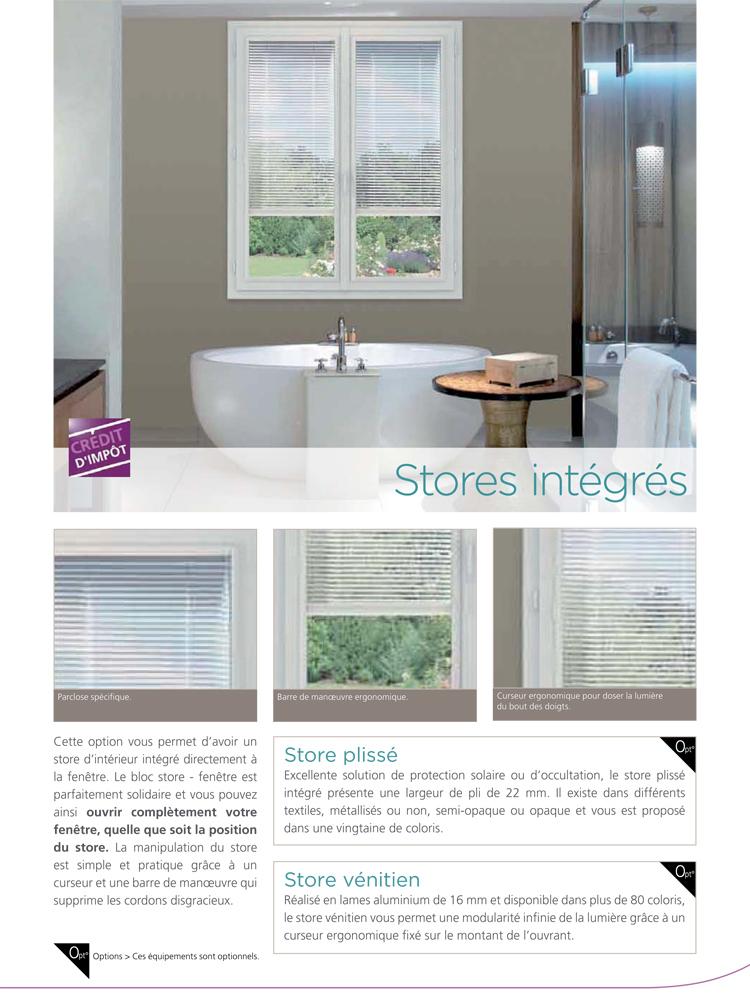 Fenêtre PVC store intégré