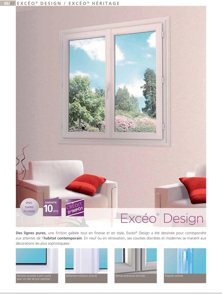 Fenêtre PVC excéo Design