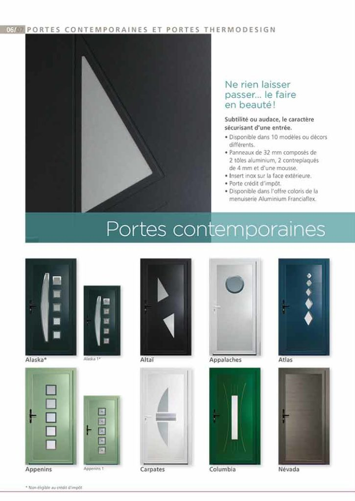 Portes Alu contemporaines