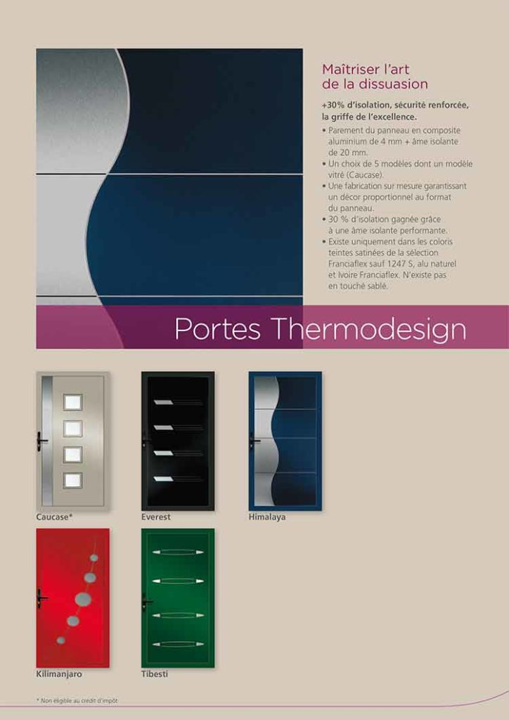 Portes Alu thermodesign