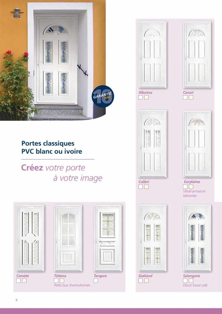 Porte classique PVC blanche