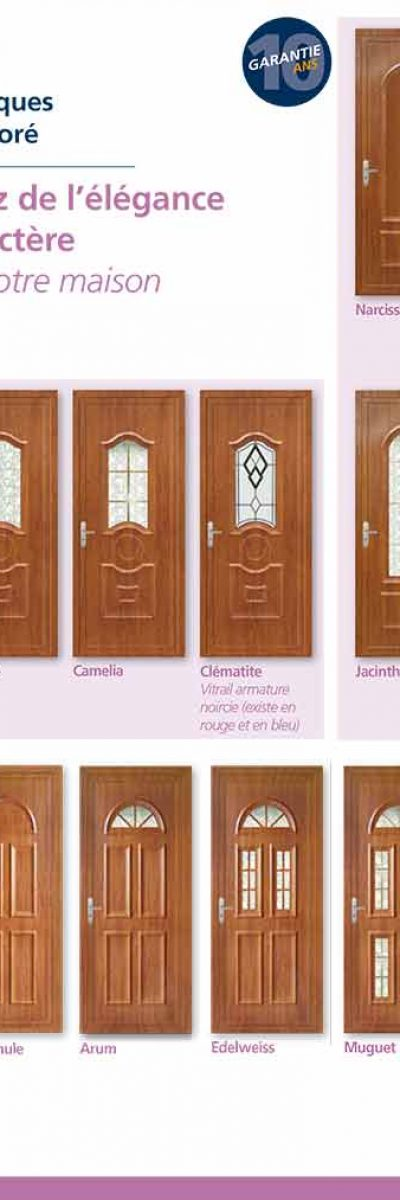Porte-fenêtre PVC immitation bois ISO CONFORT à limoux