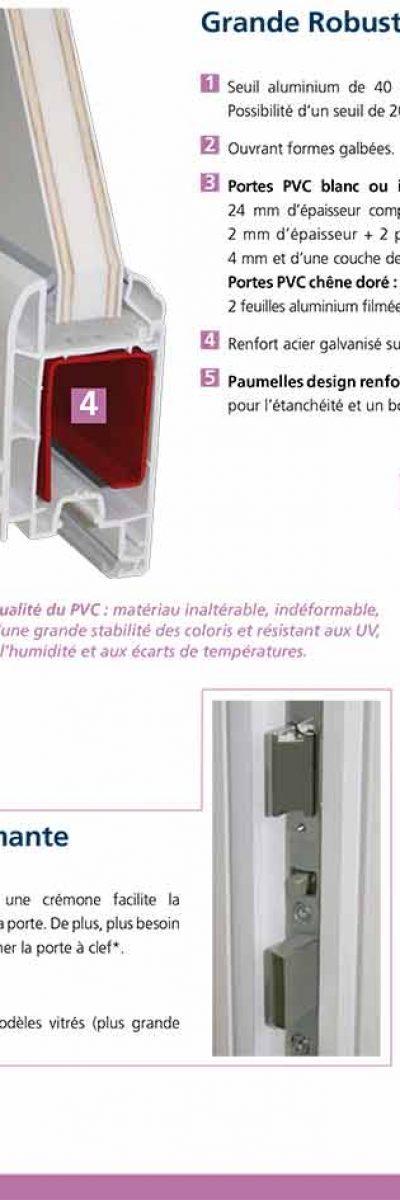 Porte-fenêtre PVC ISO CONFORT à limoux