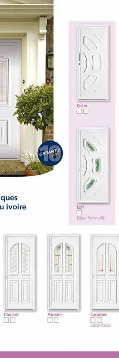 Modèle de porte-fenêtre PVC ISO CONFORT à limoux